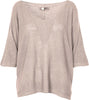 M Made in Italy - Women's V-Neck 3/4 Sleeves Pullover