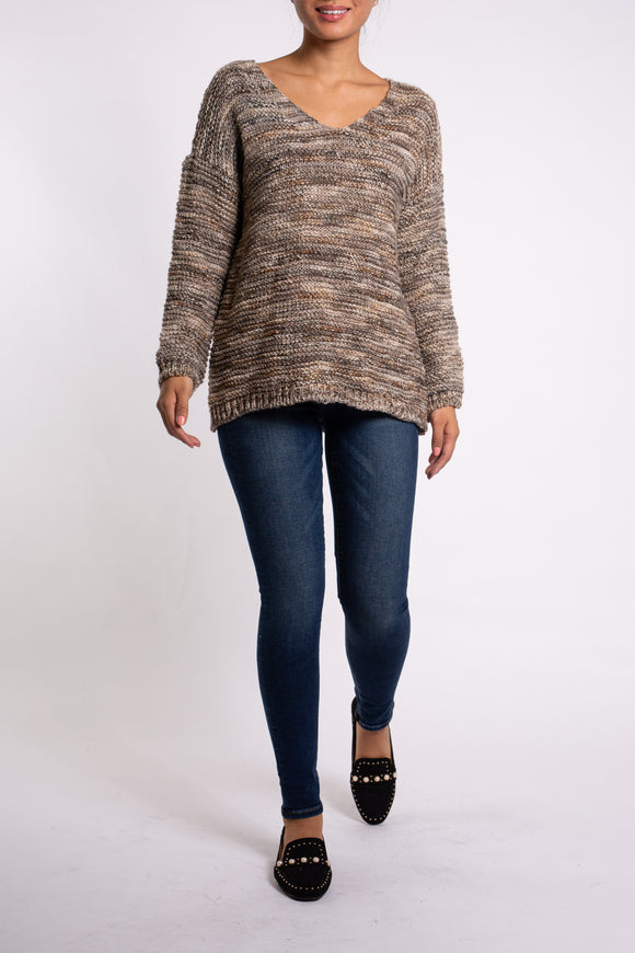 EMA&CARLA Multicolored Knit Sweater