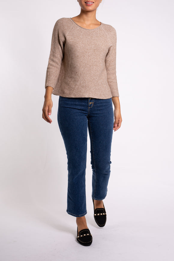 EMA&CARLA 3/4 Sleeve Knitted Sweater