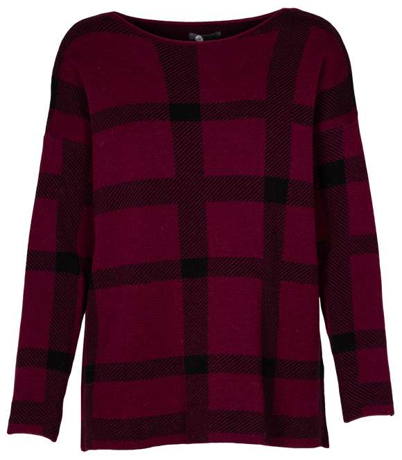 Women's Plaid Checkered Pullover