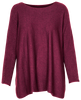 M Made in Italy Women's Long Sleeves Pleated Sweater