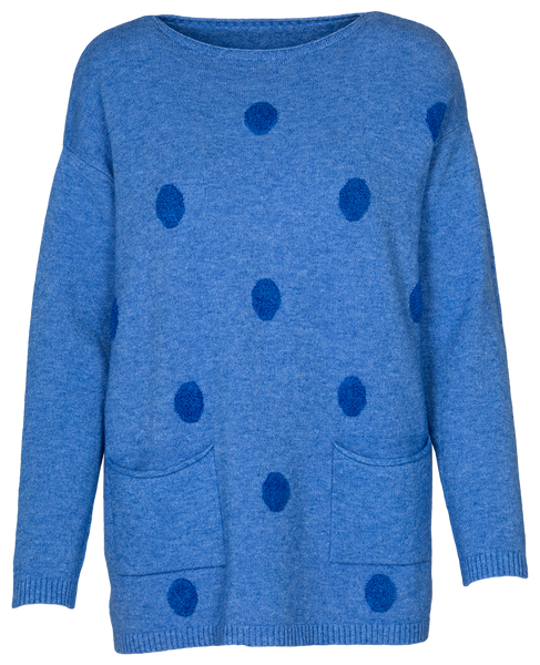 M Made in Italy Women's Polka Dot Sweater