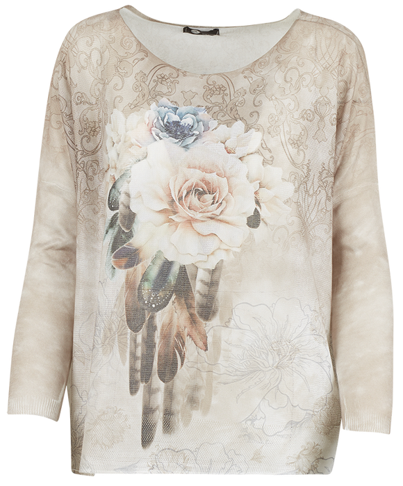 M Made in Italy - Floral Print Pullover