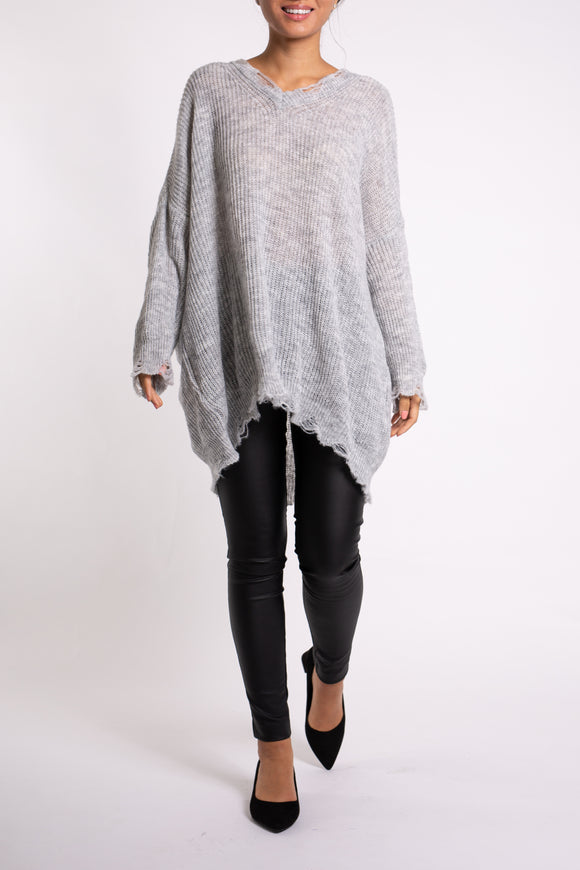 EMA&CARLA Knit Sweater with V-Neck