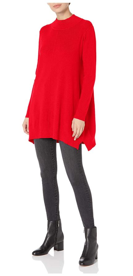 M Made in Italy - Mock-Neck Tunic Sweater