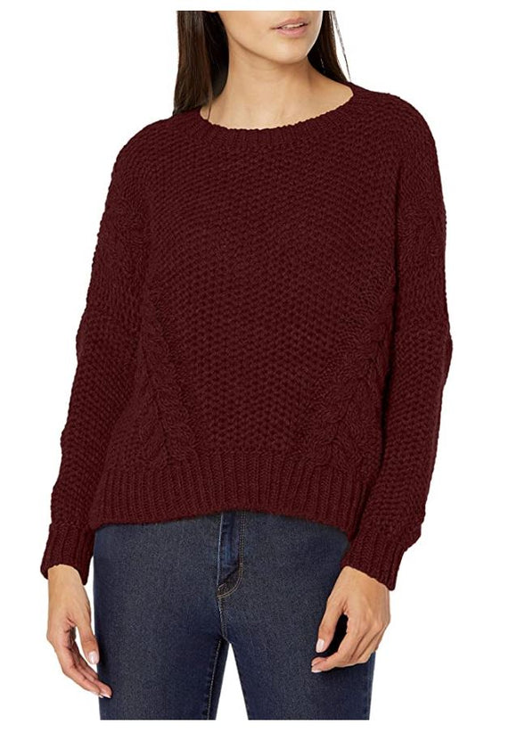 M Made in Italy - Sweater with Side Cable Knit