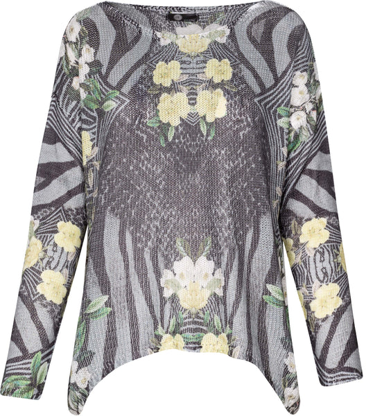 M Made in Italy - Women's Animal & Floral Print Sweater