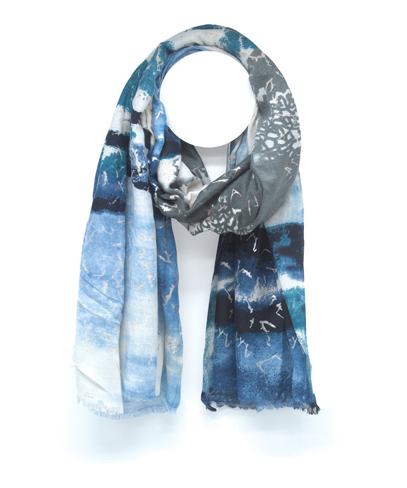 Ema&Carla Two-Toned Print Scarf