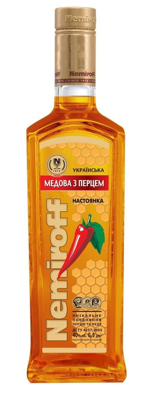 Купить - Водка Nemiroff Ukrainian Honey with pepper 0.5л 40% | VINTAGE