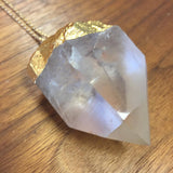 Crystal Quartz Chunk Necklace