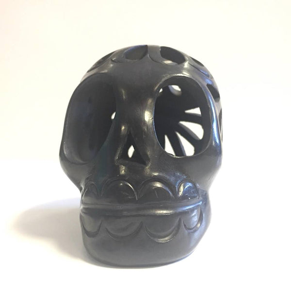 Oaxacan Black Clay Skull