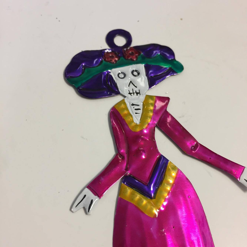 Catrina Tin Ornament
