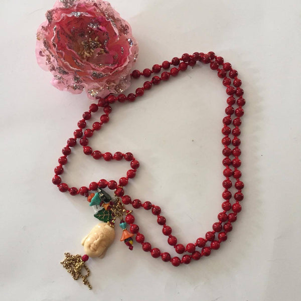 Buddha Long String Necklace