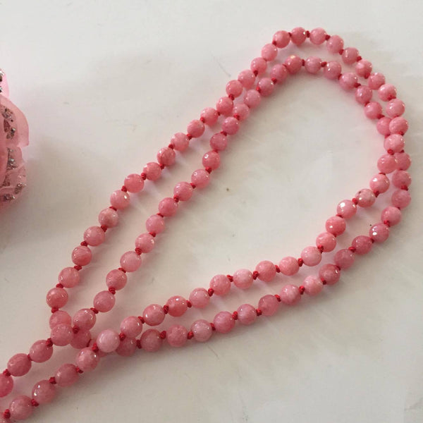 Rose Pink Saint Necklace