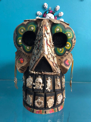 Wood Calavera