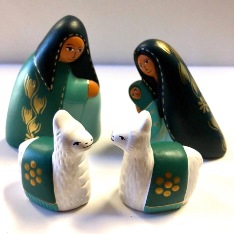 Mint Green Nativity