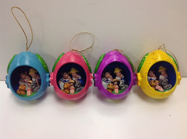 Mini Egg Nativity Ornament
