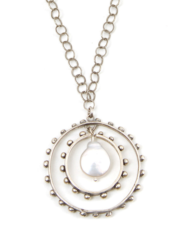 JHC Ripple Pendant with coin pearl