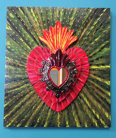 Sacred Heart  Mixed Media
