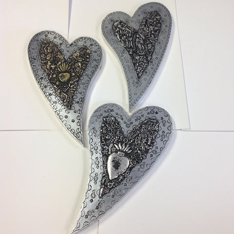 Large Tin Milagro hearts