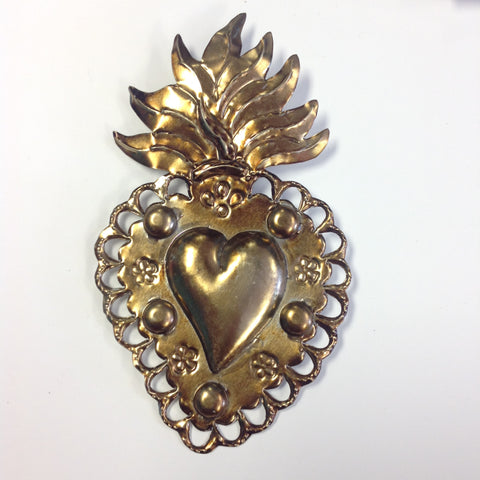 Gold Tin Heart
