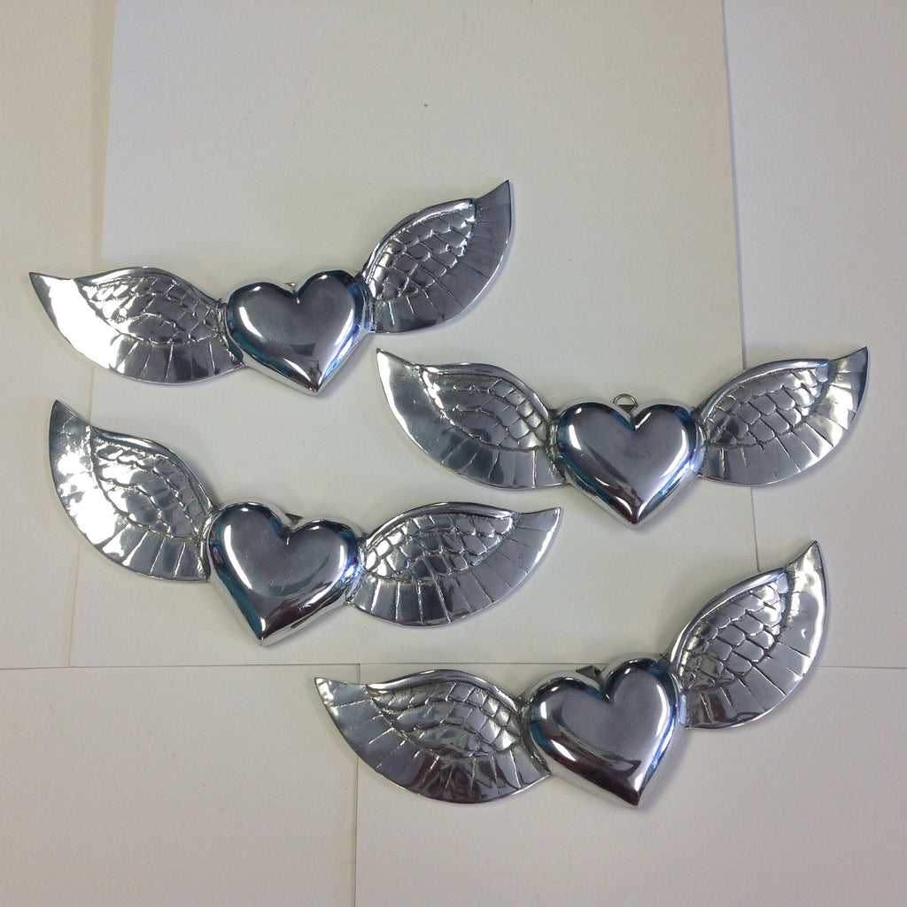 Medium Pewter Hearts