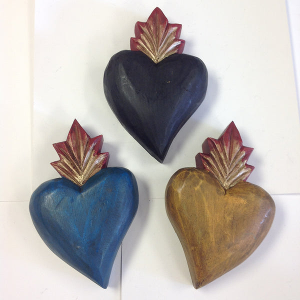 Medium wood hearts