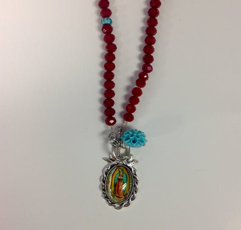 Virgen Love Bird Crystal Necklace