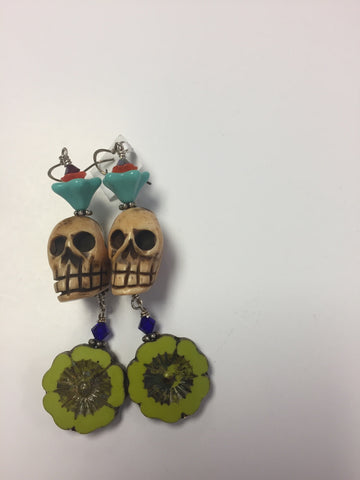 Skull Earings by Cynthia Morehouse