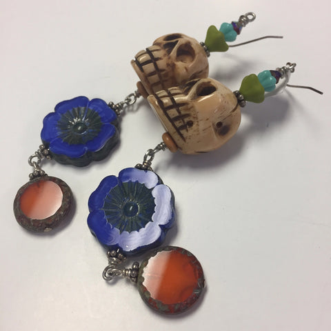Skull Earrings by Cynthia Morehouse