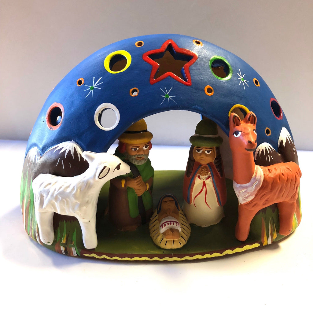 Large Tea Light Nativity Dome