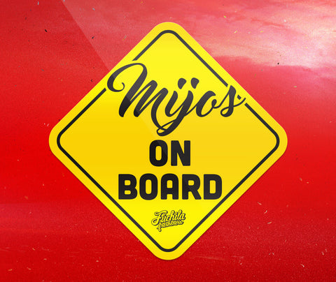 Mijos on Board sticker