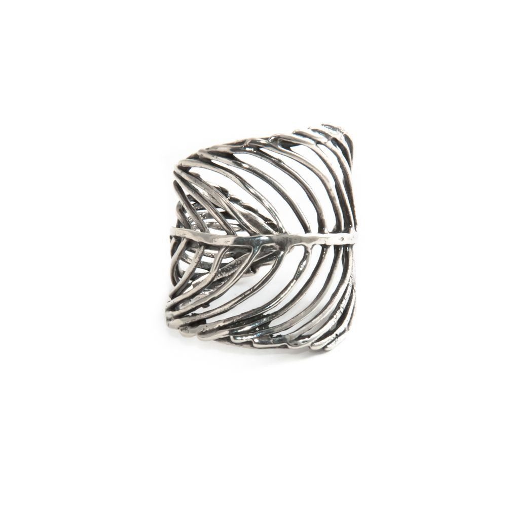 JHC Wide Feather Ring