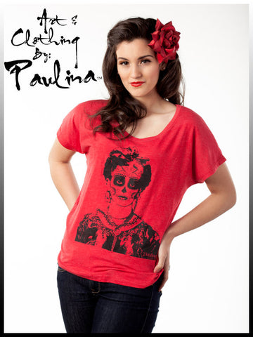 Day of the Dead Frida Red Dolman Tee