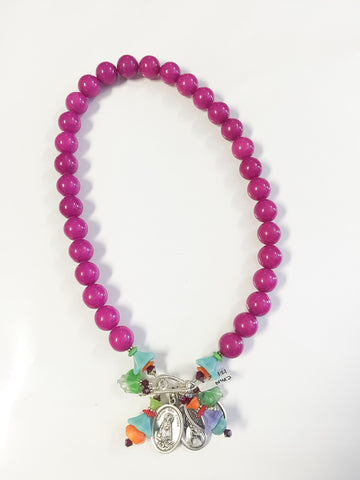 Purple jade necklace by Cynthia Morehouse