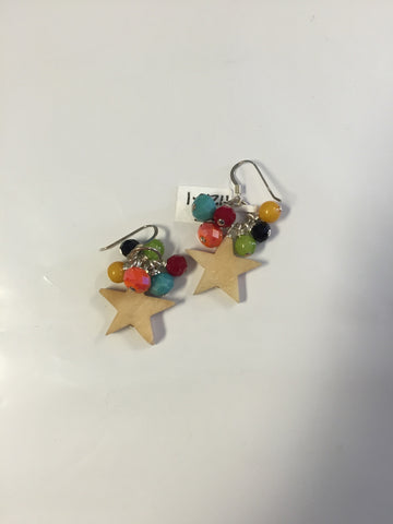 Star earrings by Cynthia Morehouse