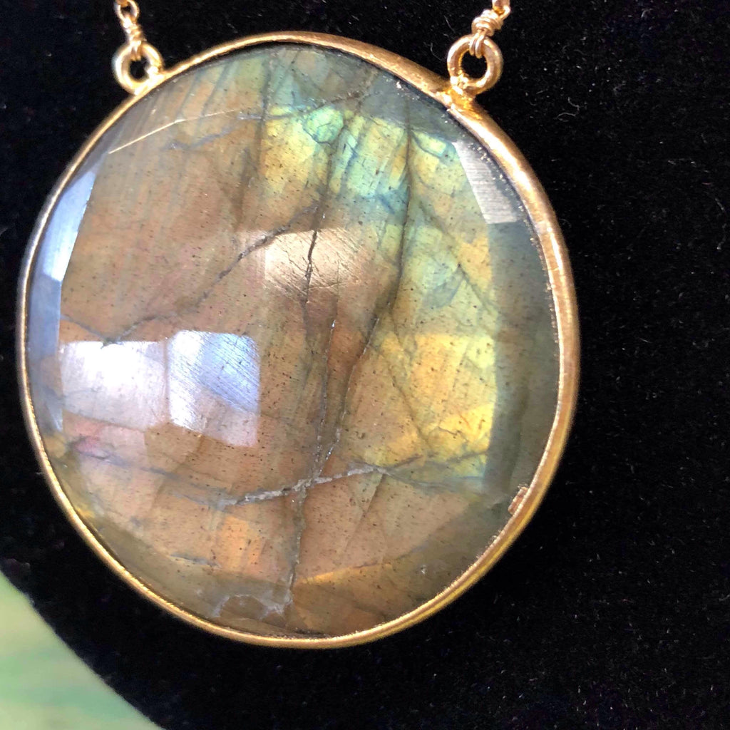 Labradorite Necklace by Karlita Designs