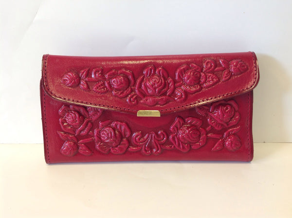 Leather Rose Wallet