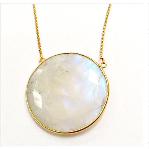 Full moon moonstone necklace from Karlita Designs