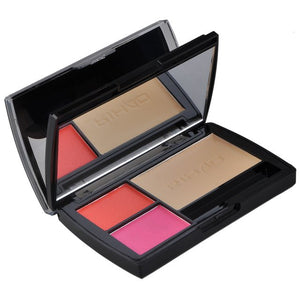 High Quality RIHAO 8 Colors Diamond Shinning Eye Shadow Eyebrow Powder Blush Palette Woman Makeup Set Beauty Accessories