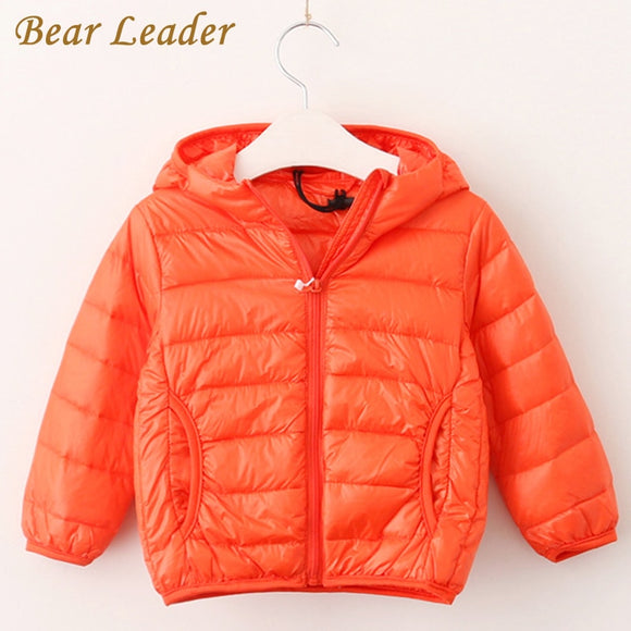 Bear Leader Girls Boys Outerwear 2017 New Winter 90% Kids Parka Down Coat Kids Jacket Hooded Solid Kids Warm Clothes For 2-9Y - g-y-mega-store