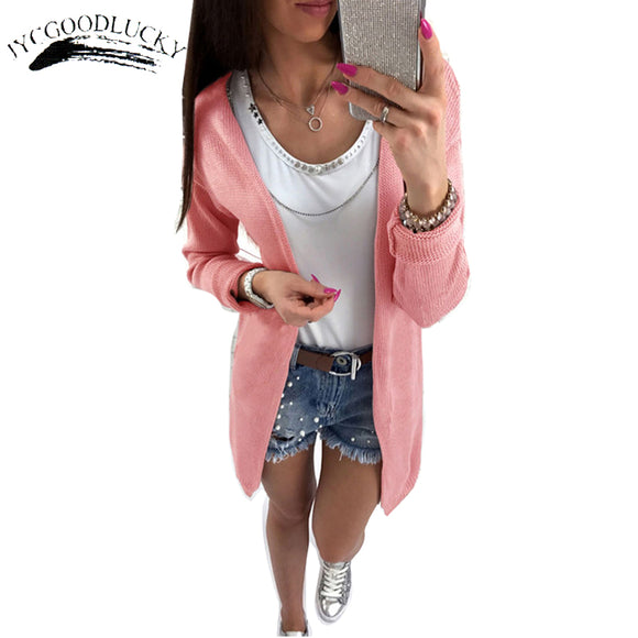 New Cardigan Female Knitted 2017 Jumper Autumn Sweater For Women Fashion Lady's Sweater Coat Diver Fall Cardigans Long Sleeve - g-y-mega-store