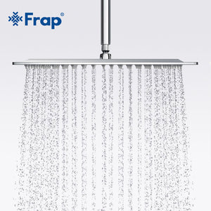 Frap New Arrival 300*300mm Square 304 Stainless Steel Shower head Rainfall Shower Faucet Overhead F28-3 - g-y-mega-store