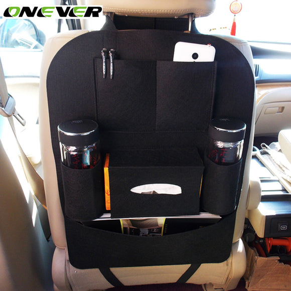 Onever Universal Auto Car Storage Bag Multi Pockets Seat Back Organizer Bag Travel Hanging Backseat Phone Pen Cups Holder Bags - g-y-mega-store
