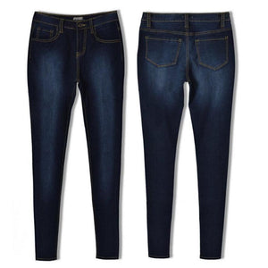 JECKSION Women Pencil Stretch Casual Denim Skinny Jeans Pants High Waist Jeans Trousers #WN