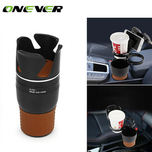 Onever Multi Function Car Storage Box Car Drink Holder Car Organizer 360 Degree Rotation for Coins Keys Phone Stand - g-y-mega-store