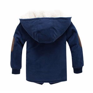 Children Jackets Boys Hooded With Fur Outerwear Warm Winter Jacket Clothing - g-y-mega-store