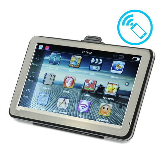 Resistive Touch Screen GPS Navigator Portable High Definition GPS Navigation For Car Truck 4.3 Inch 8GB ROM+256M RAM