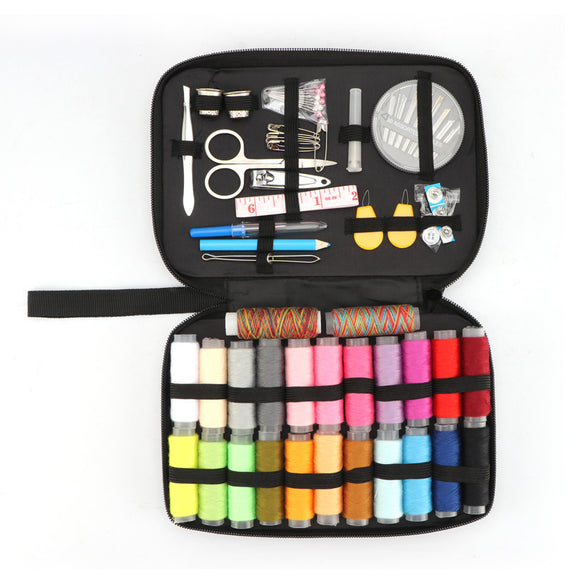 Sewing Kit with 96 Sewing Accessories, 24 Spools of Thread -24 Color for Family, Beginner, Traveller, Emergency - g-y-mega-store
