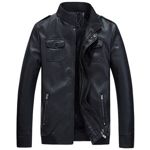 HEE GRAND 2018 Spring Men Leather Jackets Jaqueta De Couro Masculina Men's  PU Jacket And Coat MWP432